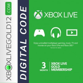 3 MONTH XBOX LIVE GOLD MEMBERSHIP (XBOX ONE/360)