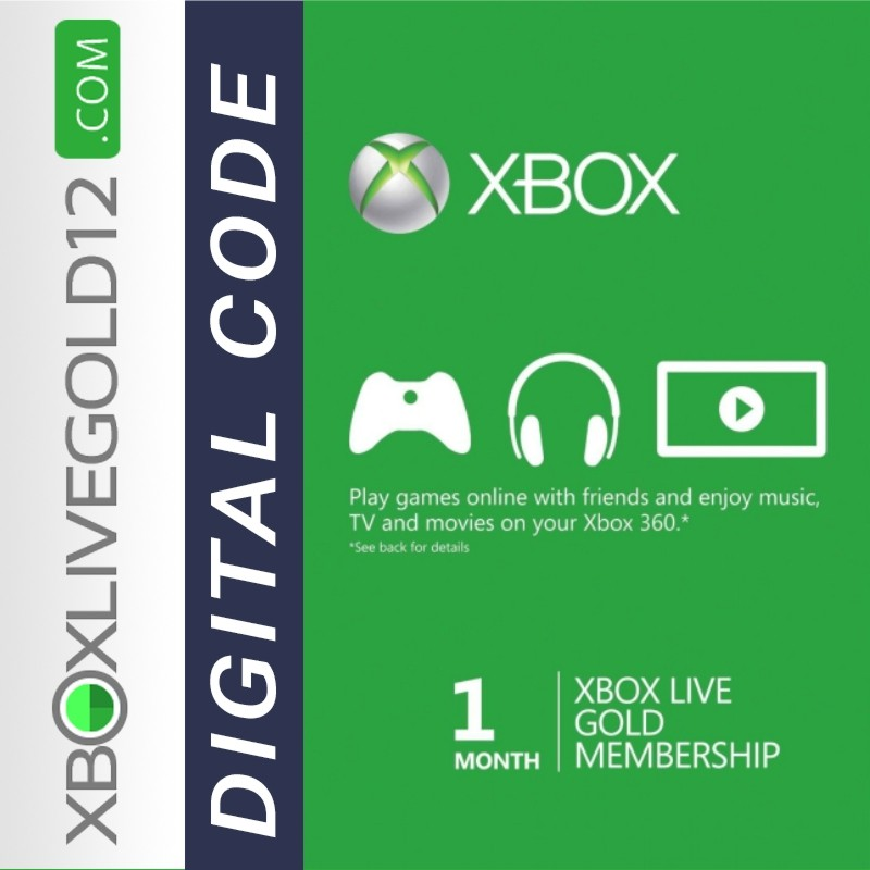Xbox Live Gold 1 Month (Digital Code) GLOBAL