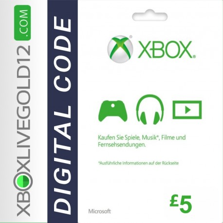 Microsoft Gift Card - 5 Pound (XBOX ONE/360)