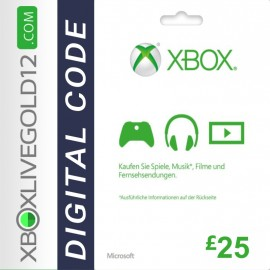 Microsoft Gift Card - 25 Pound (XBOX ONE/360)